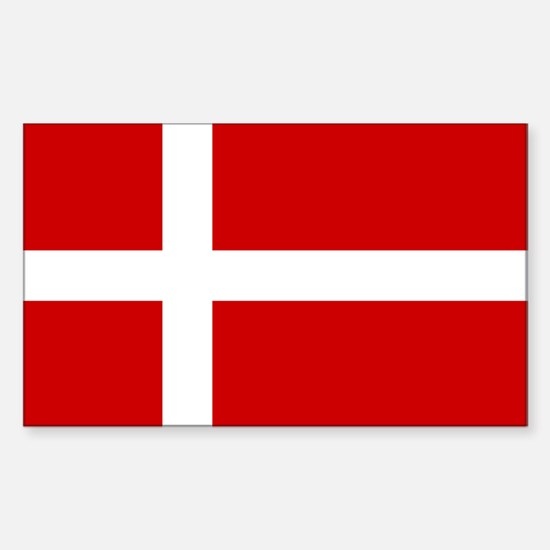 Denmark Rectangle Decal
