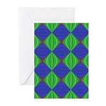 Dad's Tie Fractal Greeting Cards (Pk of 10)