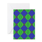 Dad's Tie Fractal Greeting Card