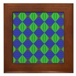 Dad's Tie Fractal Framed Tile