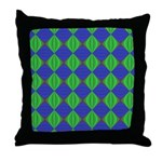 Dad's Tie Fractal Throw Pillow