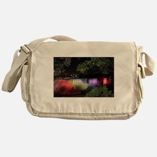 American Falls at night Messenger Bag