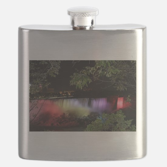 American Falls at night Flask