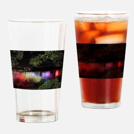 American Falls at night Drinking Glass