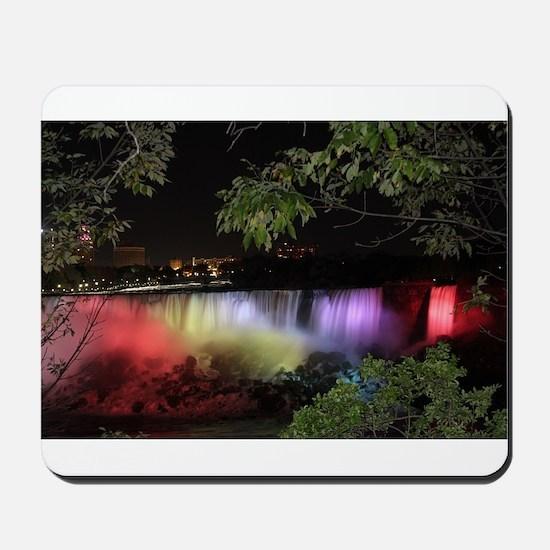 American Falls at night Mousepad