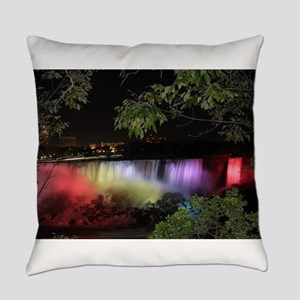 American Falls at night Everyday Pillow