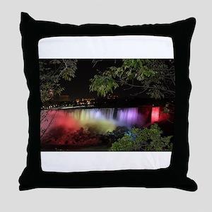 American Falls at night Throw Pillow