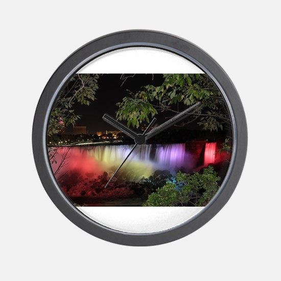 American Falls at night Wall Clock