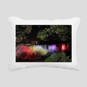 American Falls at night Rectangular Canvas Pillow