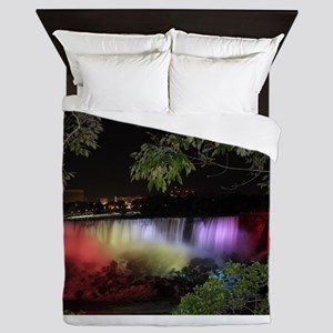 American Falls at night Queen Duvet
