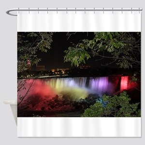 American Falls at night Shower Curtain