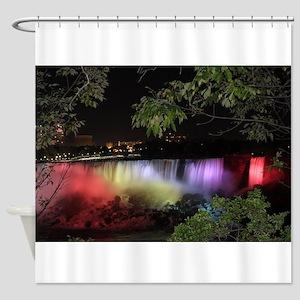 American Falls at night Shower Curtain