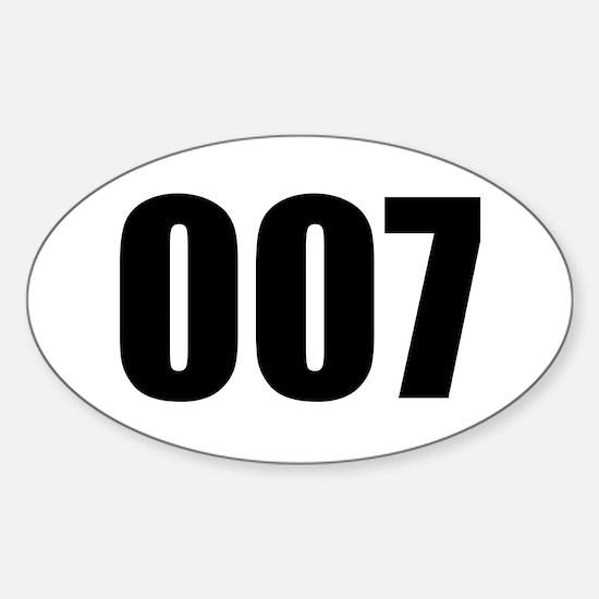 007 Sticker (Oval)