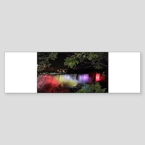 American Falls at night Bumper Sticker
