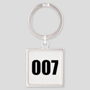 007 Square Keychain