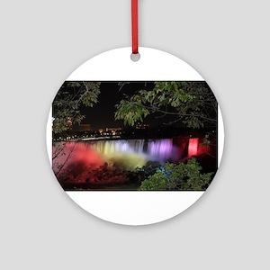 American Falls at night Round Ornament