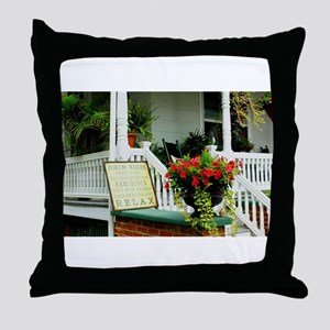 Porch Relaxing Throw Pillow