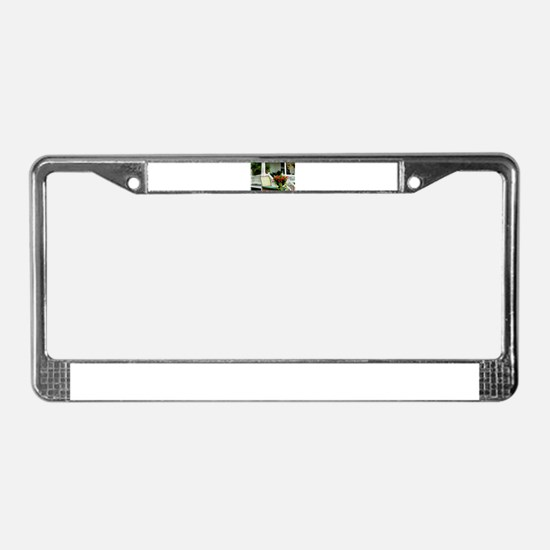 Porch Relaxing License Plate Frame