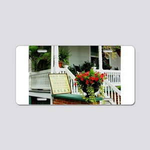 Porch Relaxing Aluminum License Plate