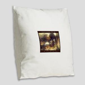 Point Lonsdale Burlap Throw Pillow