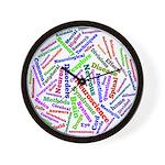Brain Cloud1 Wall Clock