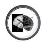 Brain Contrast Wall Clock