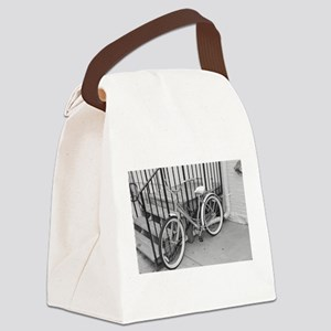 Black & White Bicycle Canvas Lunch Bag