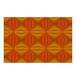 Artwork Orange Fractal Postcards (Package of 8)