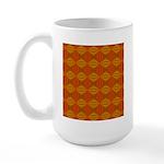 Artwork Orange Fractal Large Mug