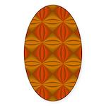 Artwork Orange Fractal Sticker (Oval)