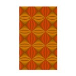 Artwork Orange Fractal Sticker (Rectangle)