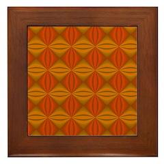 Artwork Orange Fractal Framed Tile
