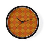 Artwork Orange Fractal Wall Clock