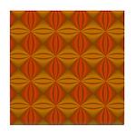 Artwork Orange Fractal Tile Coaster