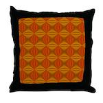 Artwork Orange Fractal Throw Pillow