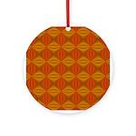 Artwork Orange Fractal Round Ornament