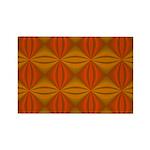 Artwork Orange Fractal Rectangle Magnet (100 pack)