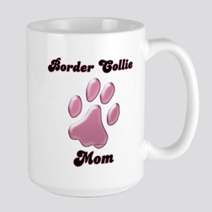 Border Collie Mom3 Large Mug