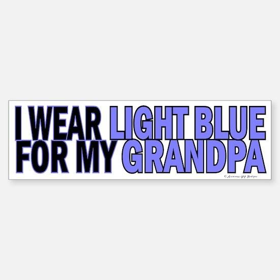 I Wear Light Blue For My Grandpa 5 Bumper Bumper Sticker