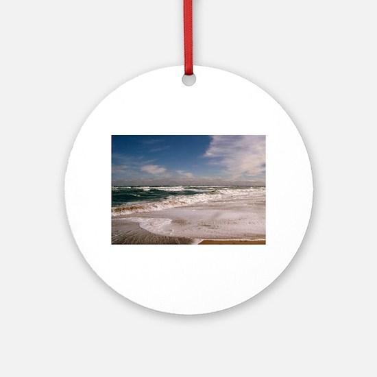Salisbury Beach Massachusetts Round Ornament