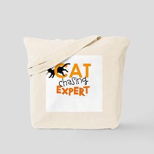 Cat Chasing Expert Tote Bag