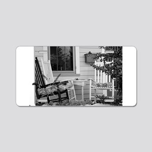 Porch Chairs - black and white Aluminum License Pl