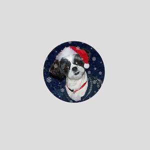 Shih Tzu Santa Mini Button