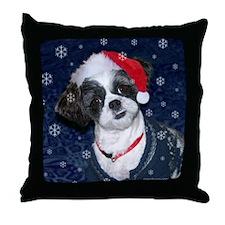 Shih Tzu Santa Throw Pillow
