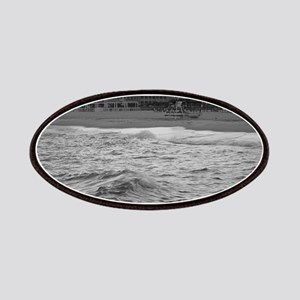 Cape May Beach - black and white Patch