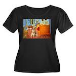 Room / Golden Women's Plus Size Scoop Neck Dark T-