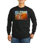 Room / Golden Long Sleeve Dark T-Shirt