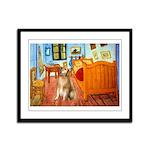 Room / Golden Framed Panel Print