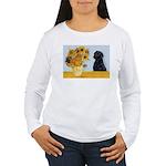Sunflowers / Lab Women's Long Sleeve T-Shirt