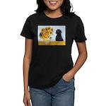 Sunflowers / Lab Women's Dark T-Shirt